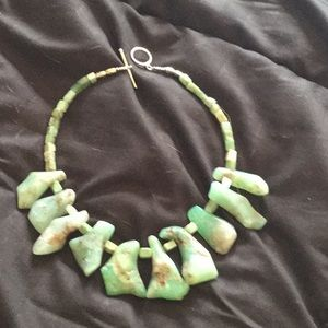 Jewelry - Fabulous handcrafted chrysoprase  necklace .